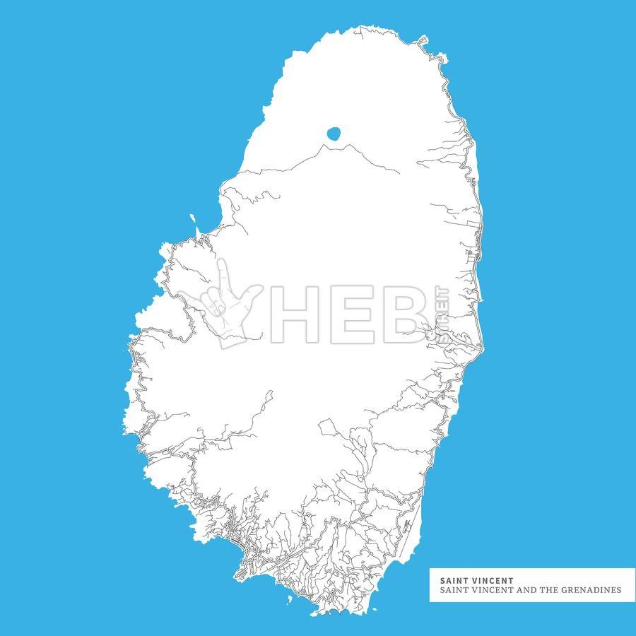 Map of Saint Vincent Island | Maps | St vincent island, Saint ...