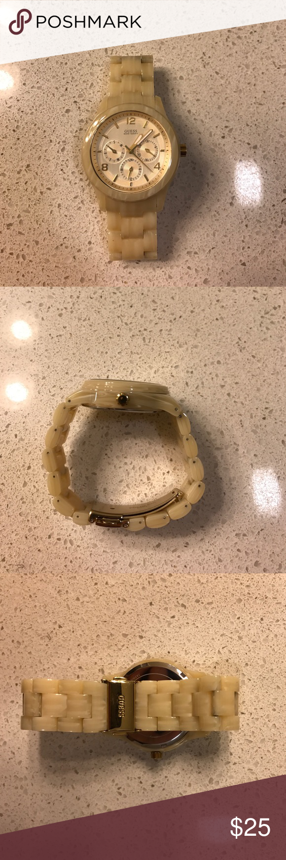 Guess watch Guess watch; no scratches on the screen (see last photo), waterpro, water resistant (battery is dead; need to replace) Guess Accessories Watches