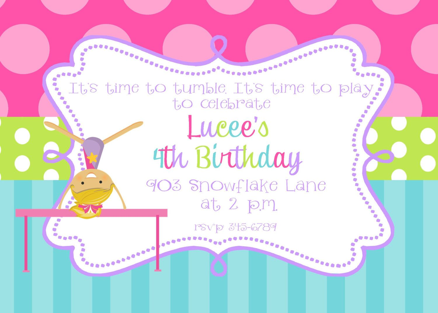 Pin by anggunstore on invitations templates by gymnastics round labels stickers for party favors gift tags or address labels filmwisefo