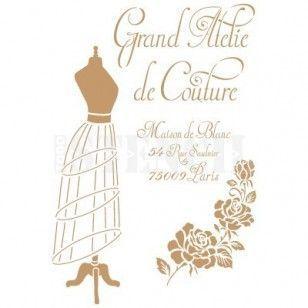 Stencil Deco Vintage Composición 206 Grand Atelier
