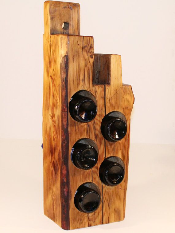 Live Edge Wood Wine Rack Maine Barn Beam Reclaimed