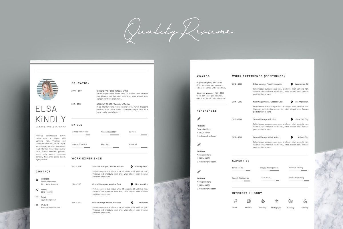 39++ 3 page resume template Format