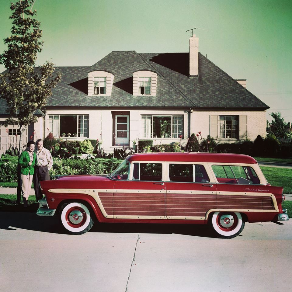 1955 Ford Country Squire Station Wagonloving The Color And Style 1954 Wagon