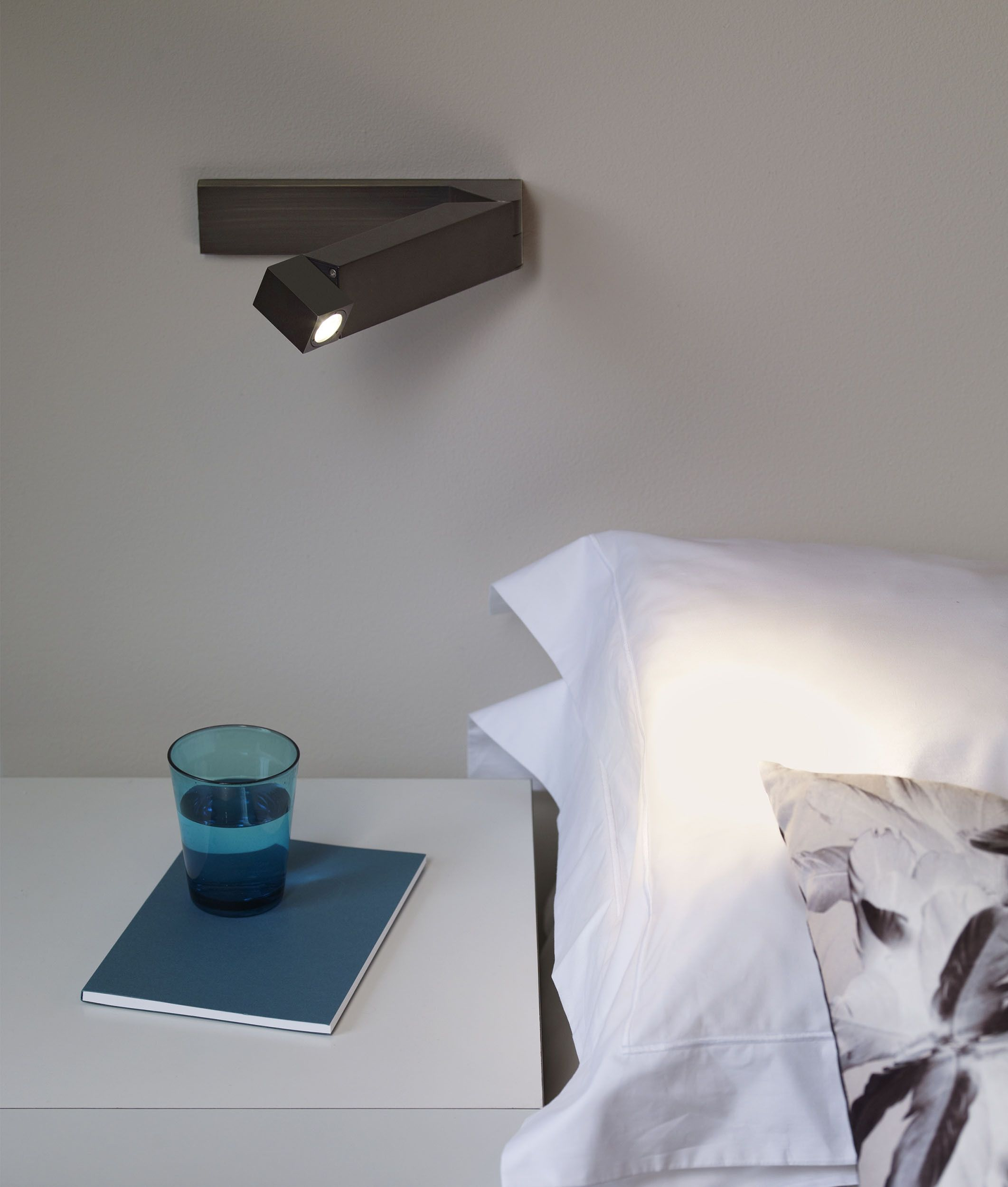 Adjustable Slim Led Bedside Reading Light In 4 Finishes In
