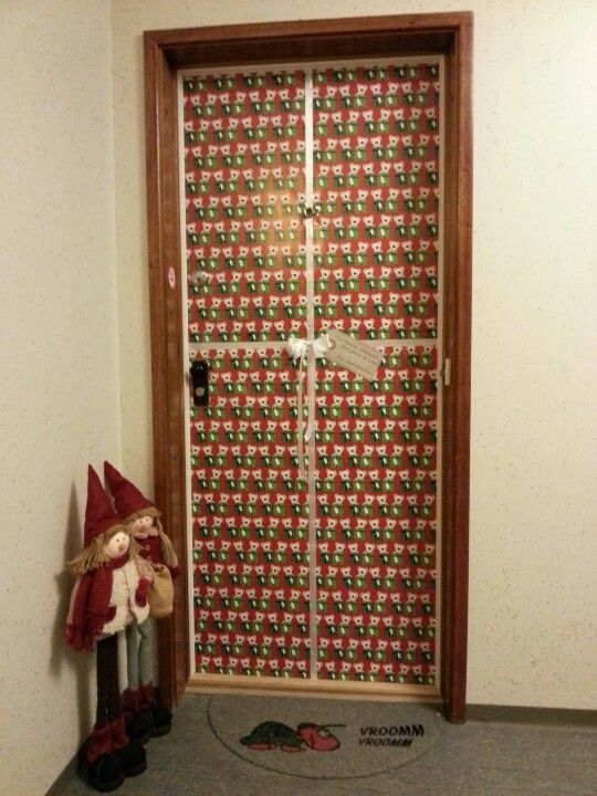 Our Apartment Front Door Gift Wrapped As Usual Christmas 2012