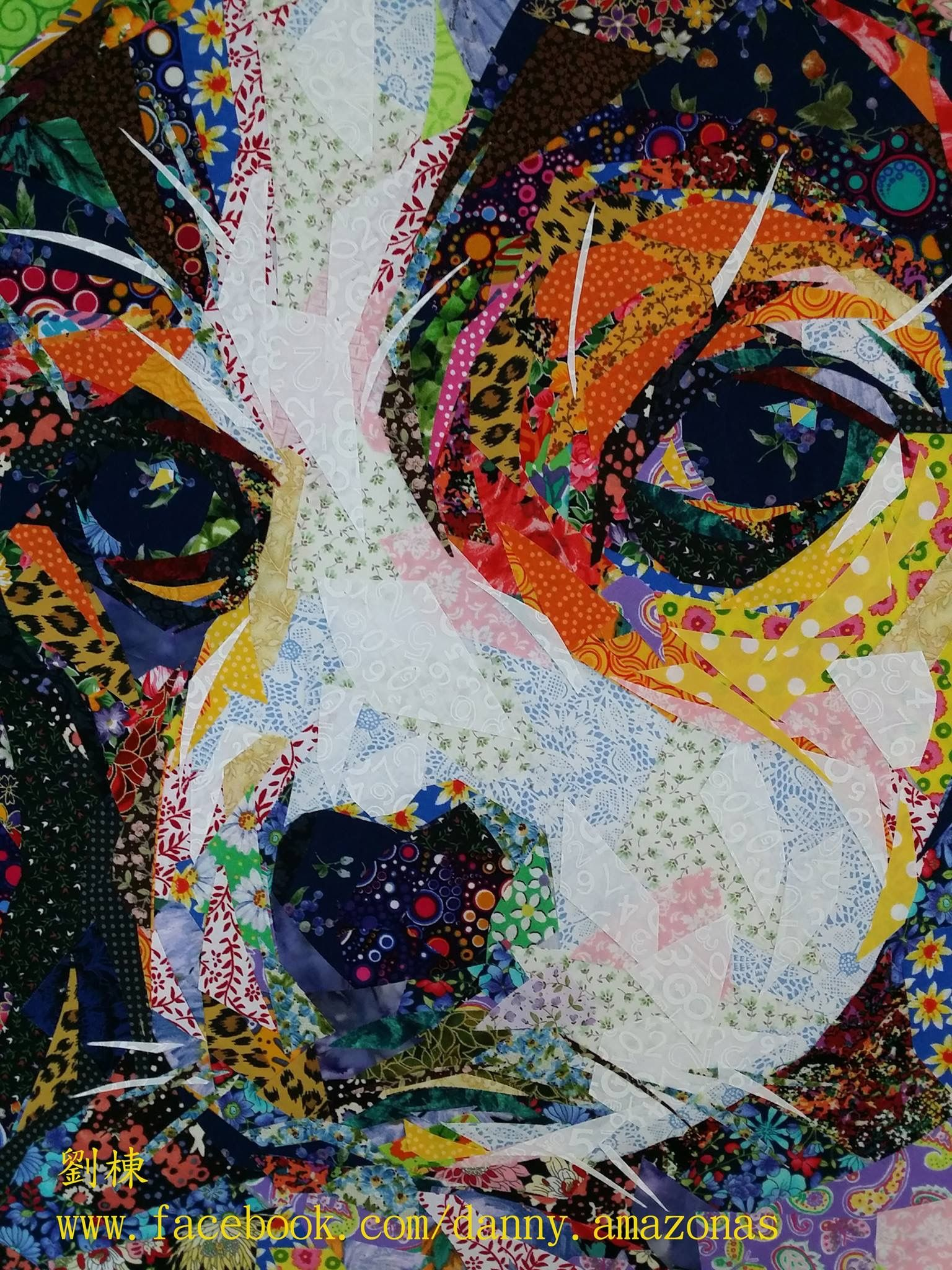 Fabric Mosaic - Danny Facebook Glad Rags Art