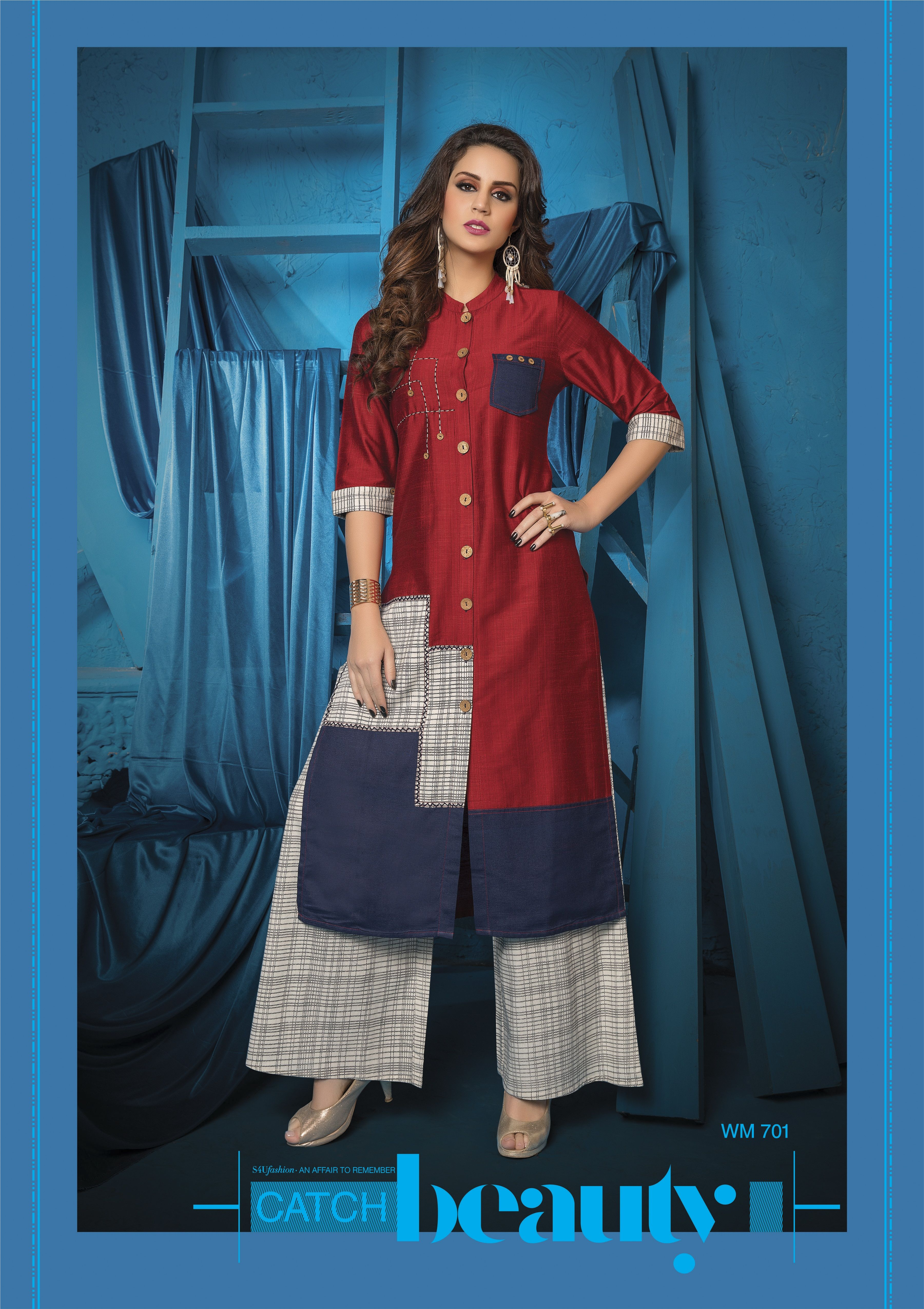 e028dc9f76 #SummerIsAlmostHere Fall in love with super cool kurti & palazzo sets from  S4U by Shivali. The all-new