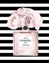 Chanel N 5 Black And White Stripes Shower Curtain For Sale By Del Art Design Designer Designs Designlife Gard Chanel Wall Art Chanel Art Print Chanel Decor