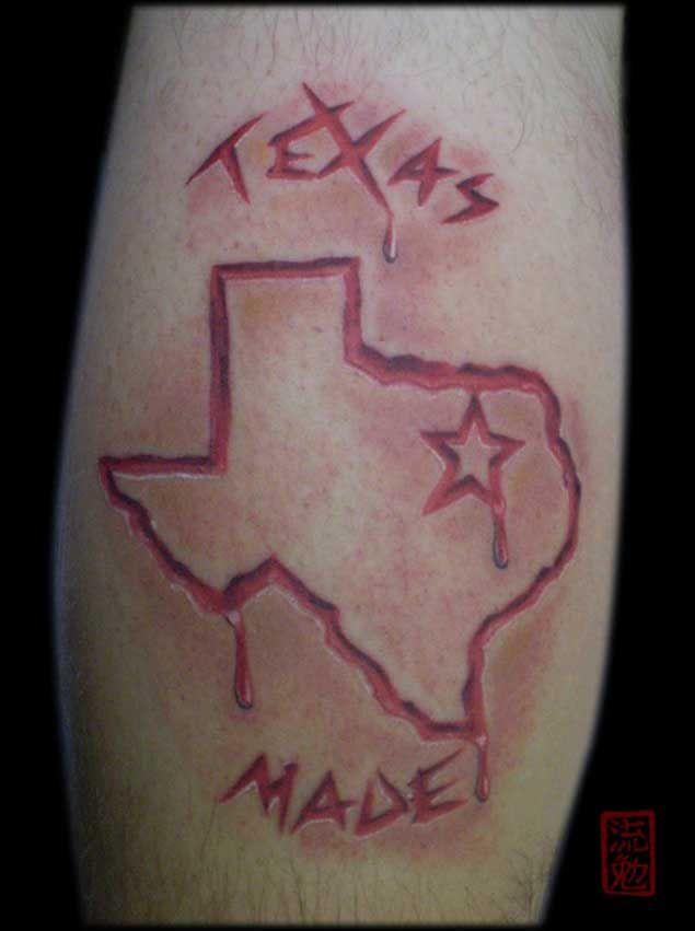 70 sensational state of texas tattoos texas tattoos for Oklahoma flag tattoo