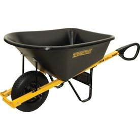 True Temper 6 Cu Ft Wheelbarrow Lowes Home Improvements Tools Garden