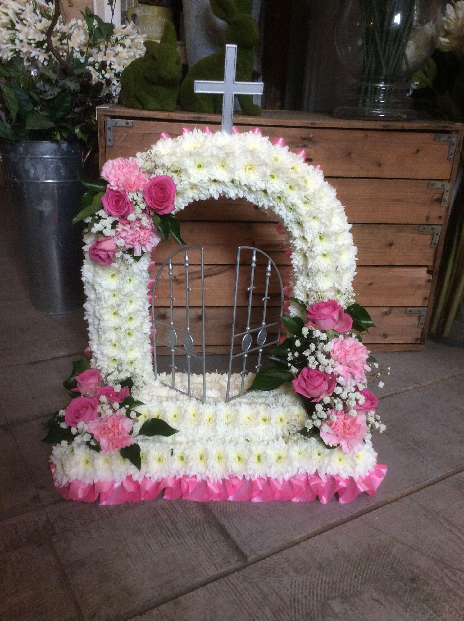 Gates of heaven funeral flower tribute funeral flower tributes gates of heaven funeral flower tribute izmirmasajfo