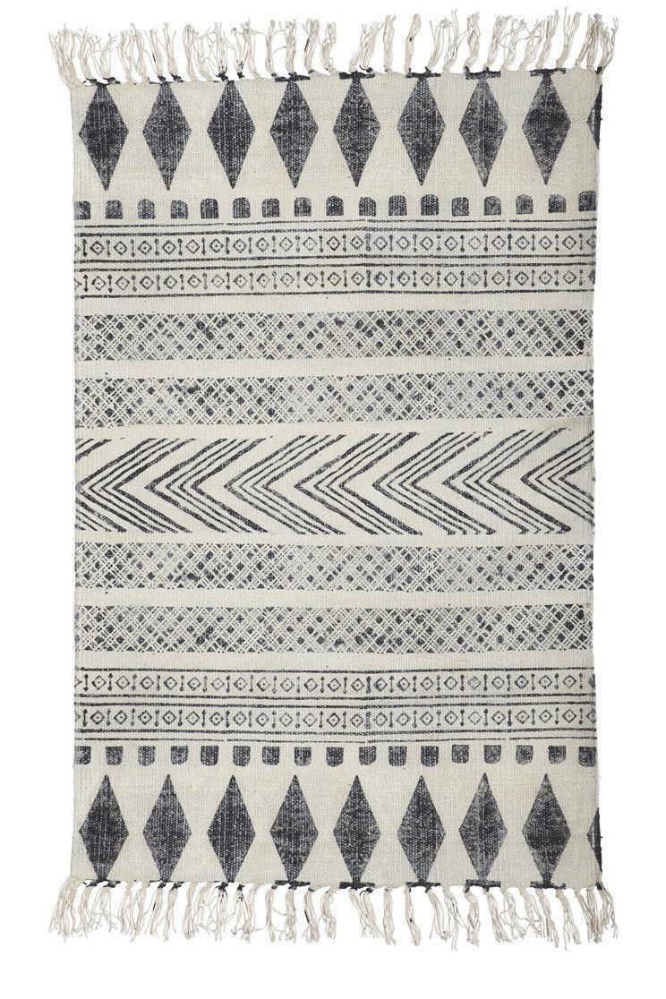Block Print Rug, Black/grey & white - Rugs & Mats - Home ...