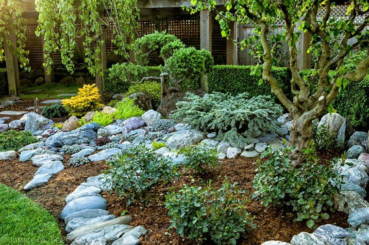 resultat dimatges de como decorar un jardin con piedras naturales