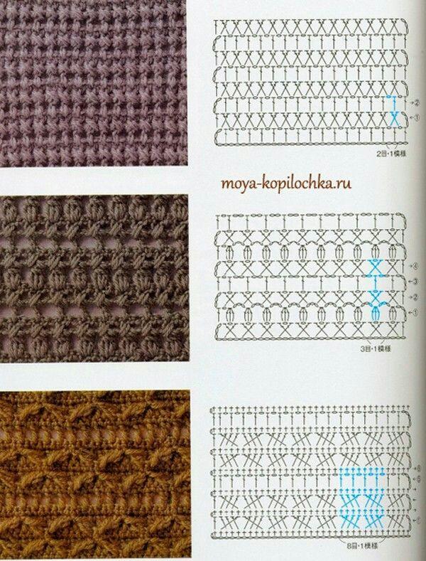 Crochet stitches | Fashion | Pinterest | Puntadas, Ganchillo y ...