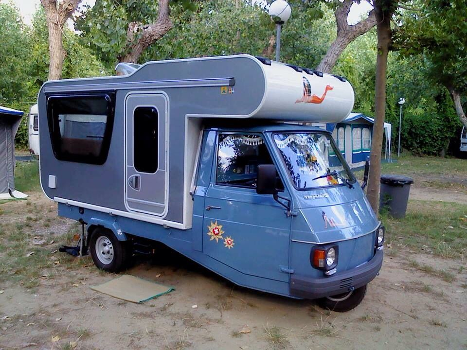 Incroyable Three wheeler. --Personally I don't see how a three wheeled camper XF-19