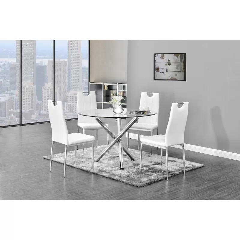 Tipler Dining Table In 2020 Dinette Sets Glass Dining Set