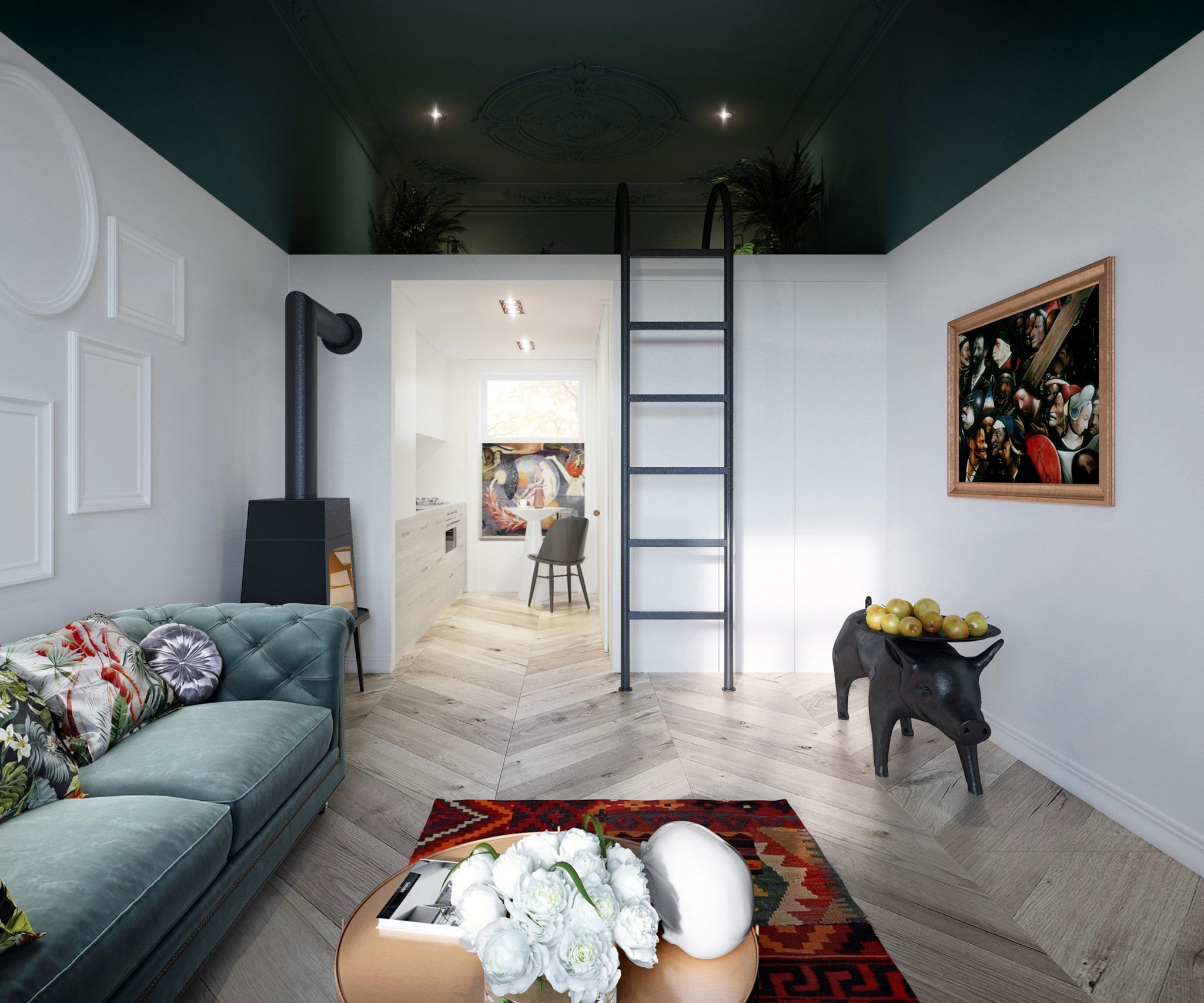 Loft bed ideas for small rooms  Pin by Kasia Lenart on Interiors  Pinterest  Interiors