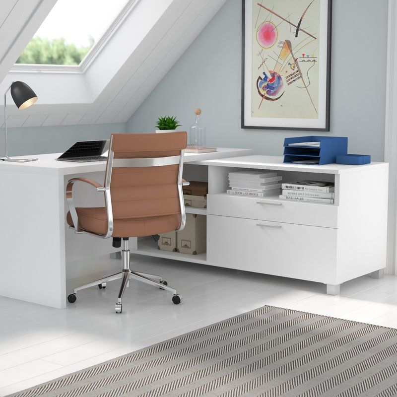 Ariana L-Shape Executive Desk I Want All of This! Pinterest