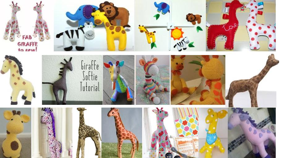 Een Gek Dier De Giraf: Giraf Van Vilt Met Gratis Patroon