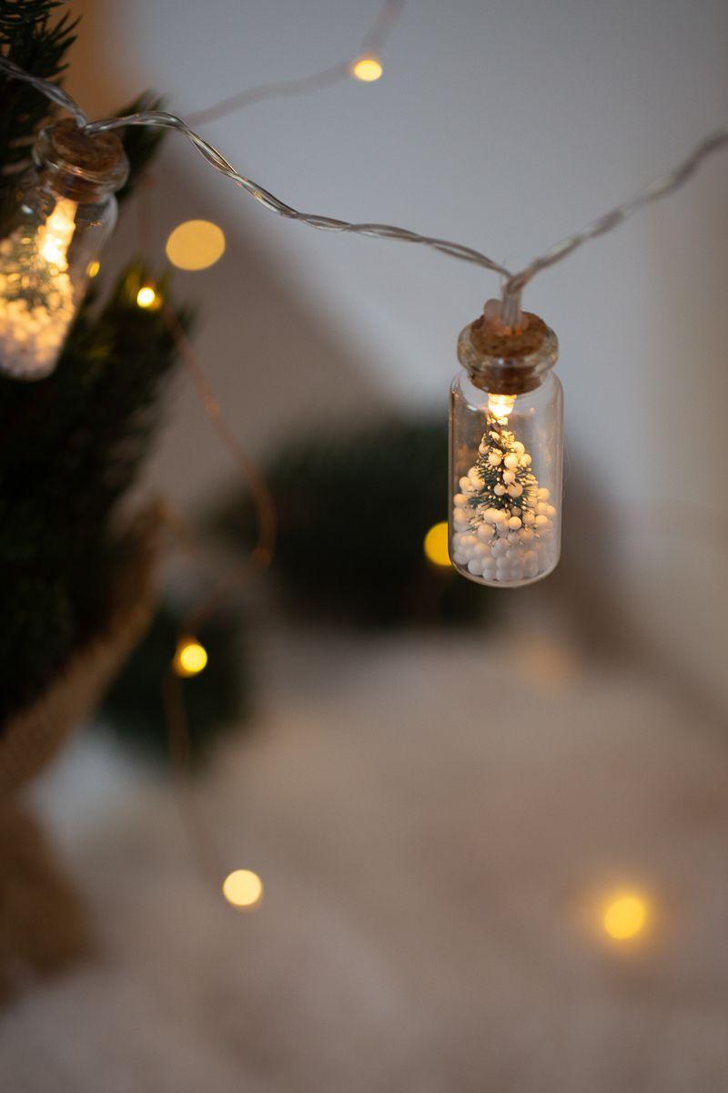 Lichter, um raum zu schmücken diy weihnachten  lichterkette in minigläsern   karácsony
