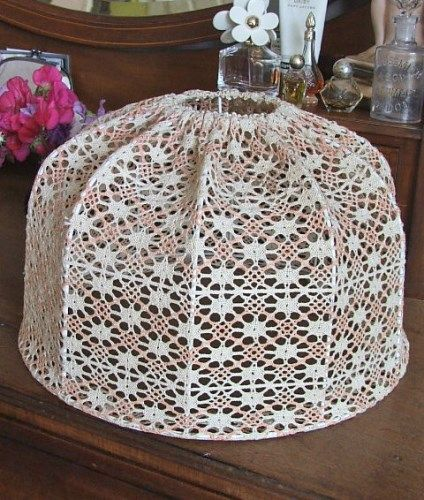 vintage french style crochet lampshade crochet. Black Bedroom Furniture Sets. Home Design Ideas