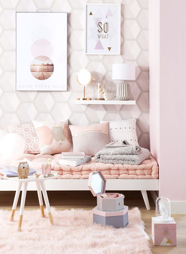 d co cuivre rose bourwis pastel room bedroom decor et. Black Bedroom Furniture Sets. Home Design Ideas