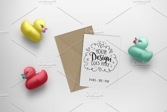 Greeting Card Kids Mockup Business Card Mock Up Sticker Maker Kid Friendly