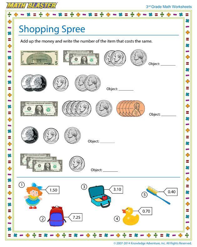 Shopping Spree 1 Jpg 630 788 3rd Grade Math Worksheets 3rd Grade Math Math Worksheets