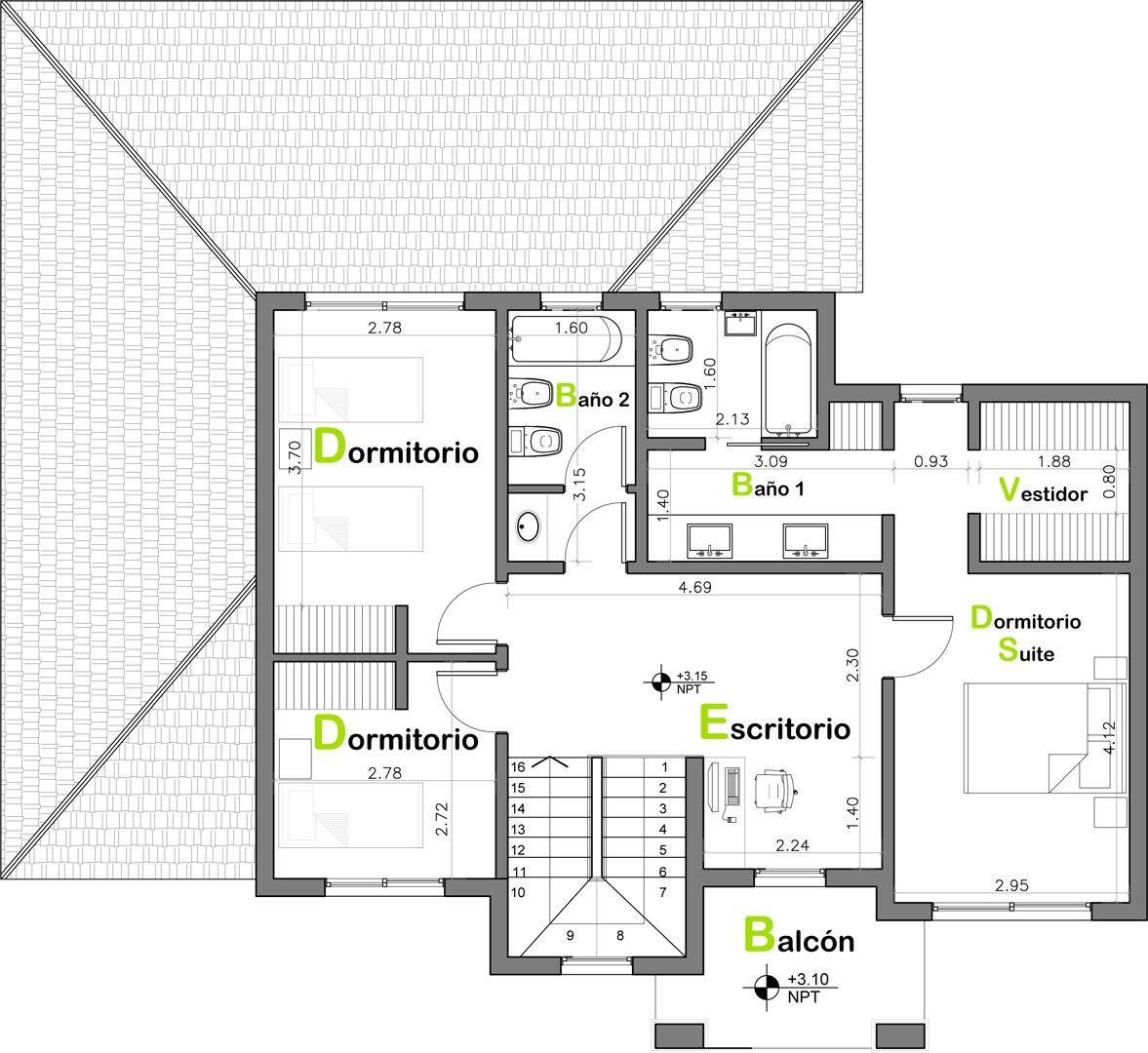 Estudio NF y Asociados | House plans | Pinterest