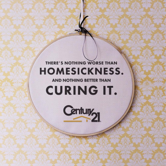 There's nothing worse than homesickness and nothing better than curing it… with Century 21 Northwest.