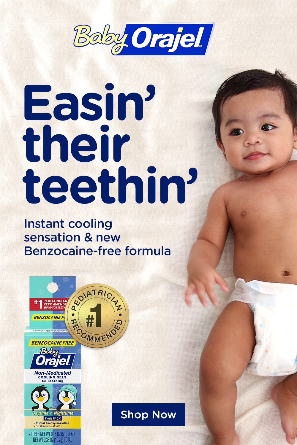 Orajel Non Medicated Cooling Gel Soothes Your Baby S Teething Gums