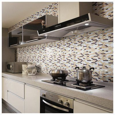 Art3d 12 X 12 Pvc Peel Stick Mosaic Tile In Gray Yellow