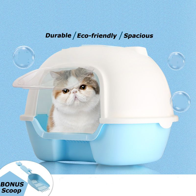 Factory hooded cat litter box with scoop Cat litter