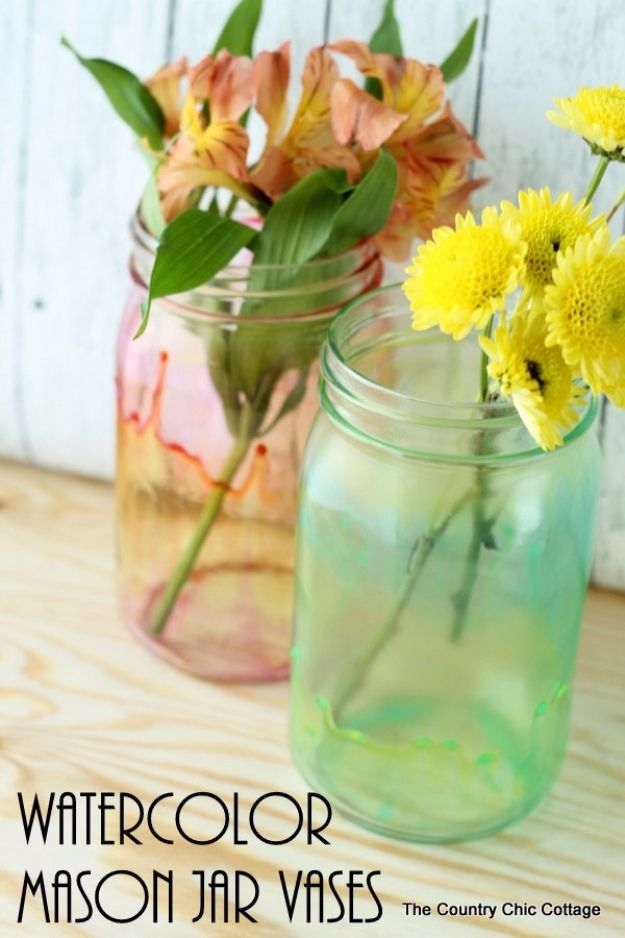 36 Brilliant Mason Jar Vases You Should Make Today Mason Jar