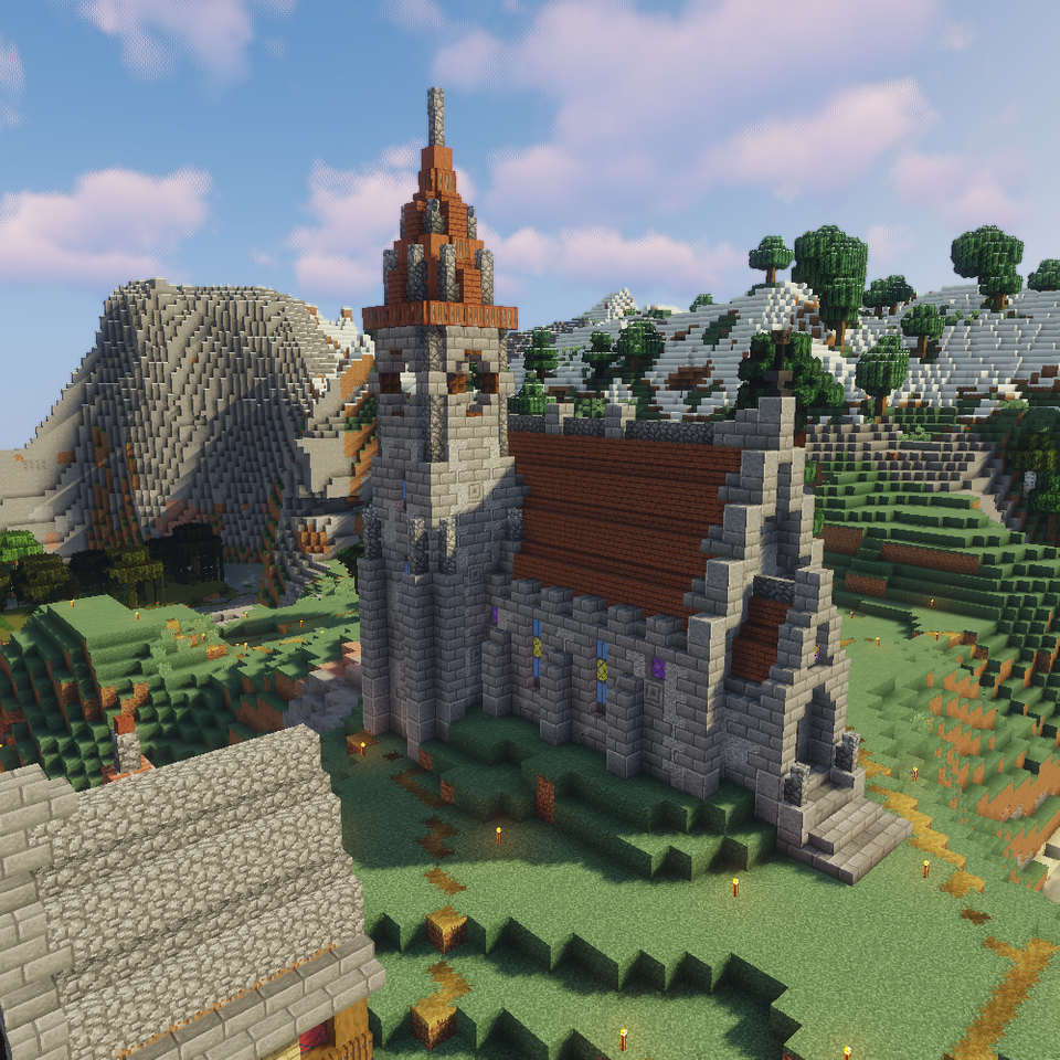 A Little Church I Ve Been Working On The Past Couple Of Days Minecraft Minecraft Medieval Minecraft Medieval House Minecraft Blueprints