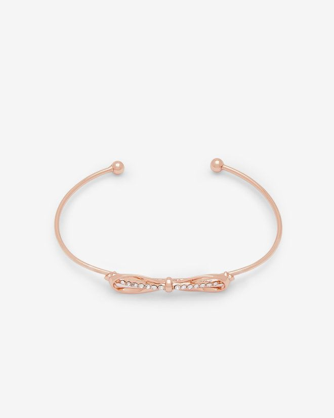 Bow detail crystal cuff Rose Gold Jewellery Ted Baker UK