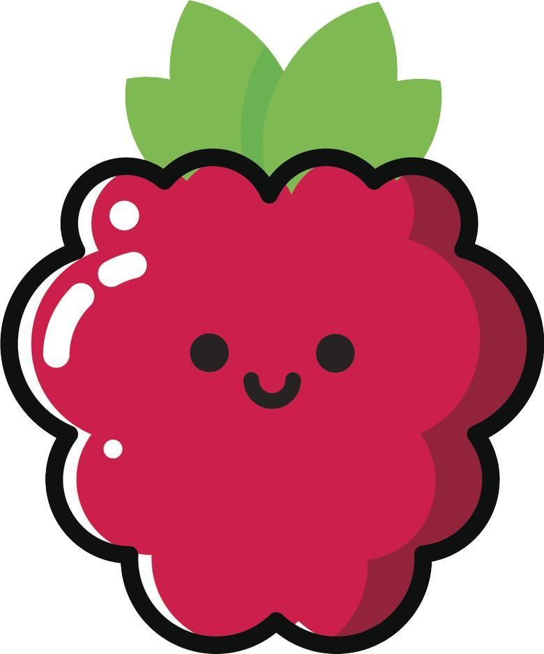 Happy Cute Kawaii Fruit Cartoon Emoji - Raspberry Vinyl