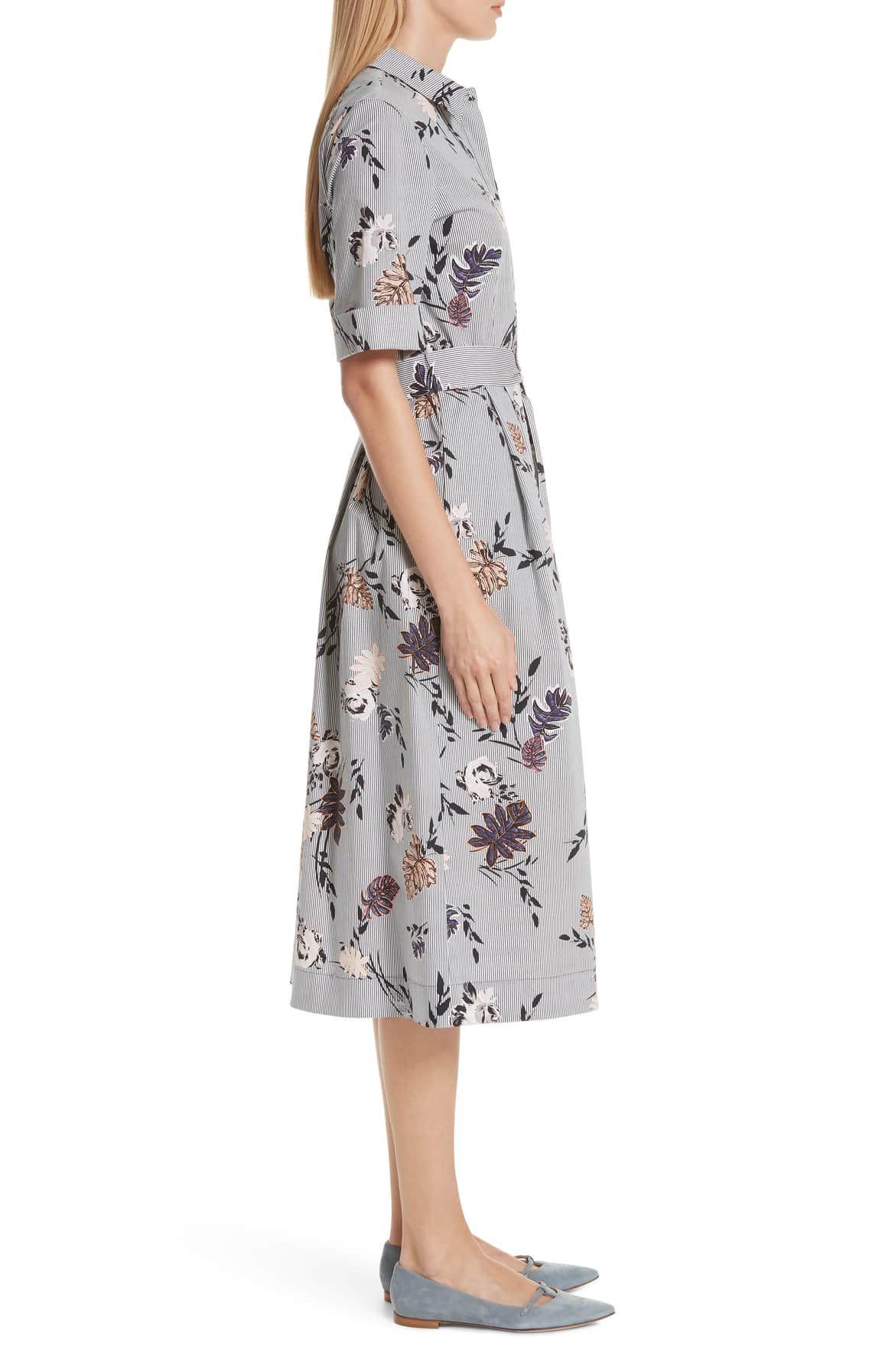 d88393386570 Eleni Floral Stripe Shirtdress, Alternate, color, INK MULTI | Fash ...