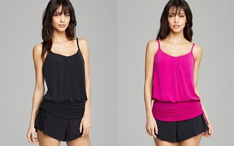 Magicsuit Solid Shelly Tankini & Solid Jersey Tap Brief Short