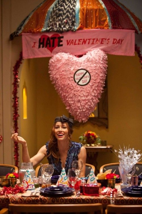 Jessica Biel Inspiration For I Hate Valentines Day Party