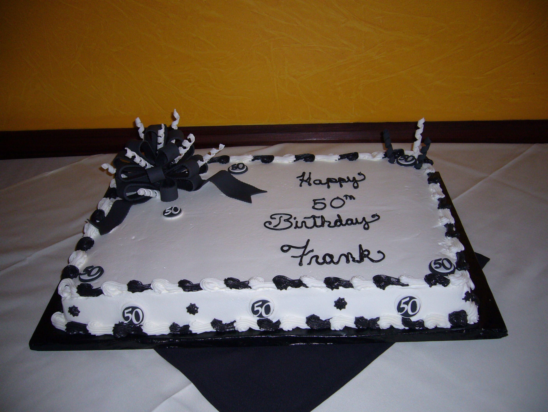 Black And White Th Birthday Sheet Cake For Th Birthday BC - 50 birthday cake designs