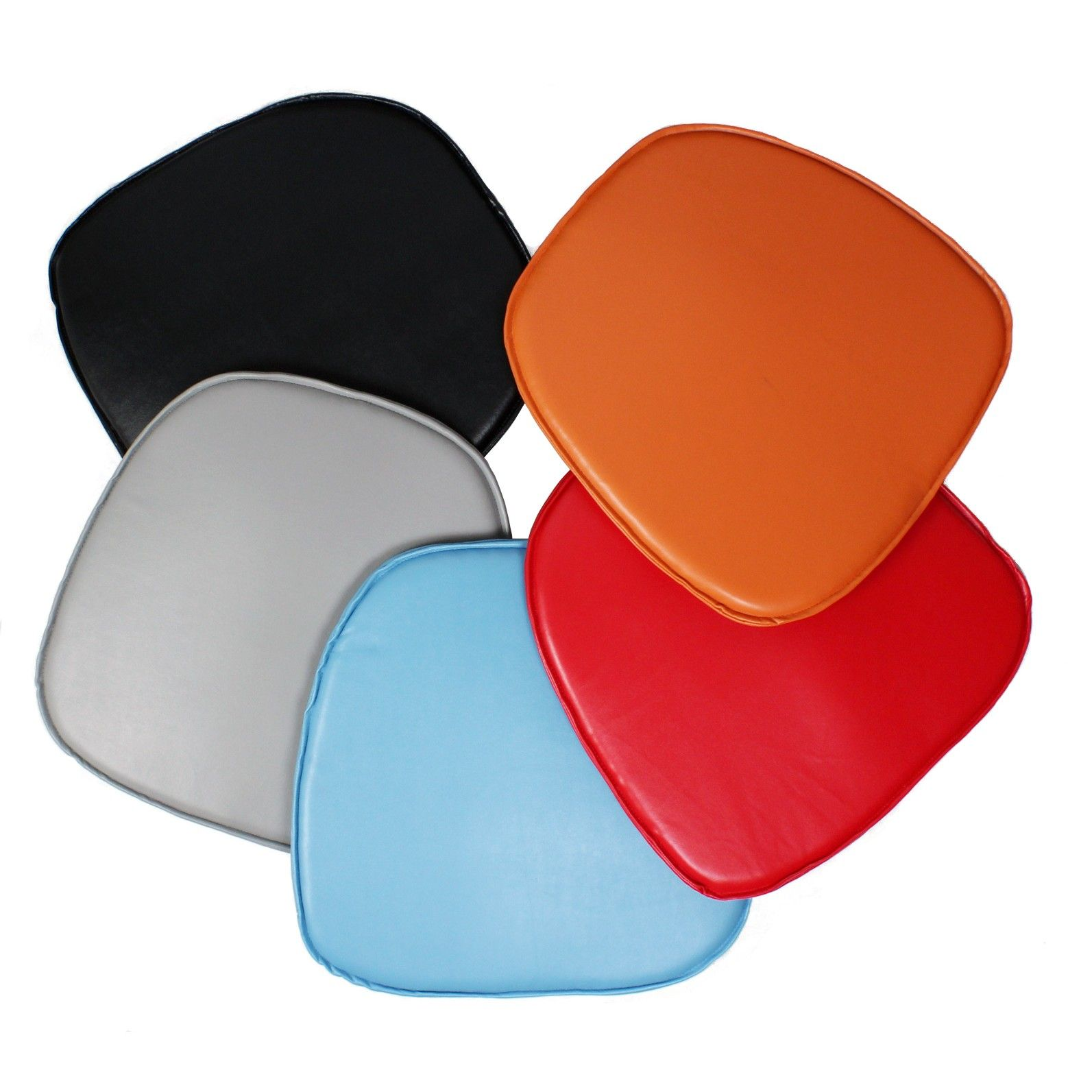 eames style plastic chair queen anne recliner covers seat pad cushion for dining and armchair
