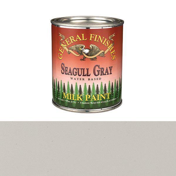 Best General Finishes Seagull Gray Milk Paint Pint Milk 400 x 300