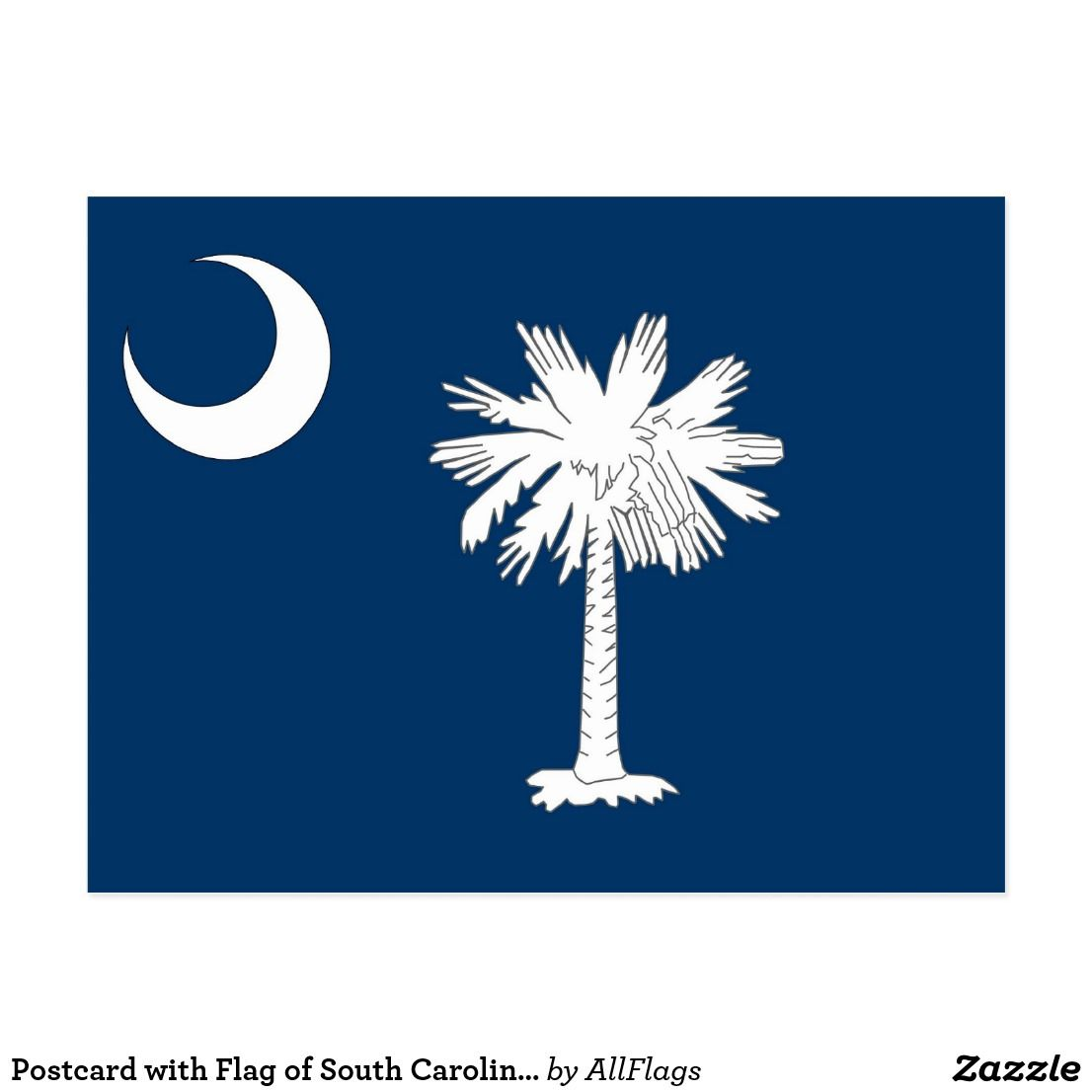Postcard With Flag Of South Carolina State Usa Zazzle Com
