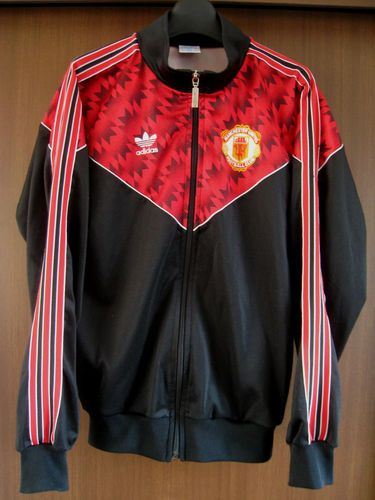 d24edc78 Adidas 90s Man Manchester United UTD Vtg Jersey Shirt Track Suit Jacket Top  U 98 | eBay