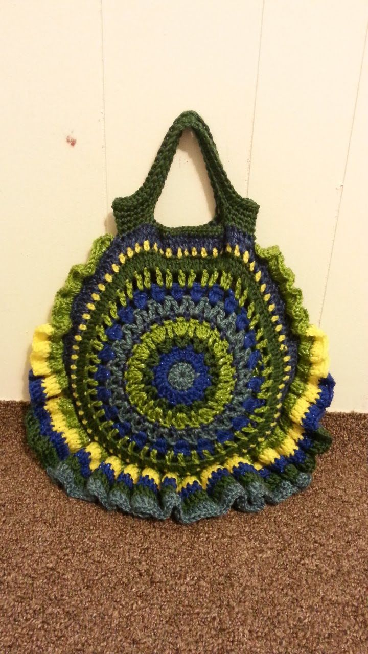 CROCHET How To #Crochet Round Handbag Purse #TUTORIAL #154