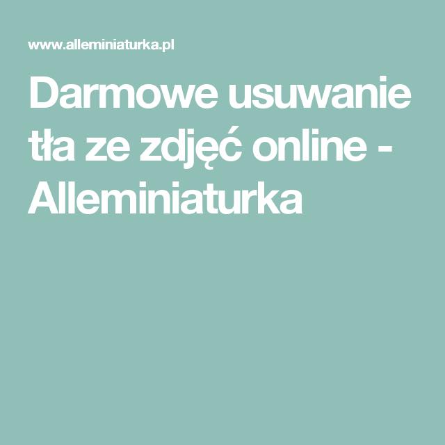 Ogromny Darmowe usuwanie tła ze zdjęć online - Alleminiaturka | Aplikacje QP87