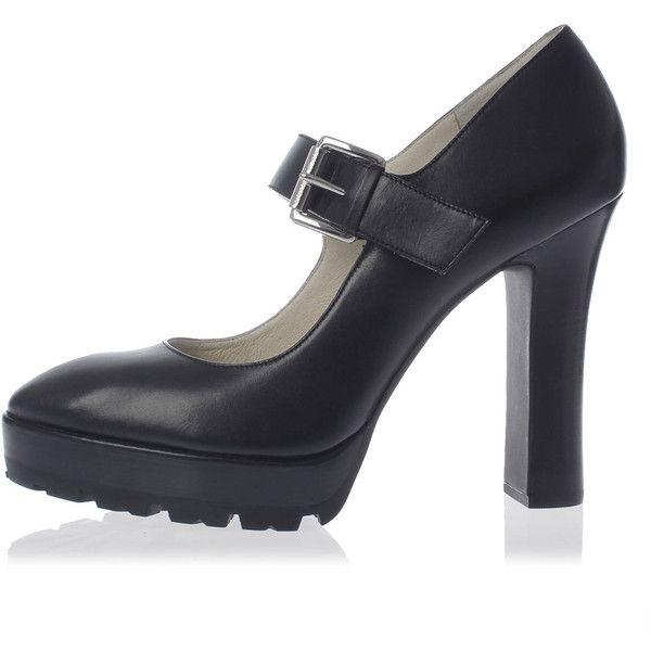 0920c851d2f5 Michael Kors Leather FLYNN MARY JANE Pump Heel 11 cm (160 AUD) ❤ liked