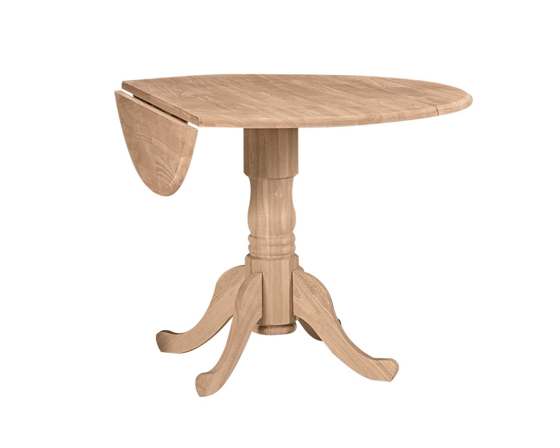 Ww T 42dp 42 Round Drop Leaf Pedestal Table Dining Table Drop Leaf Table Dining Table In Kitchen
