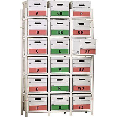 Bin Warehouse 18-File Box Storage System  sc 1 st  Pinterest & Bin Warehouse Storage System File Box Model   Pinterest   Box ...
